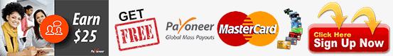 Free Payoneer Mastercard Bangladesh